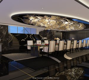 Opulent interior design for Striking 87m Mega Yacht IWANA by Alex McDiarmid and Stef-Albert