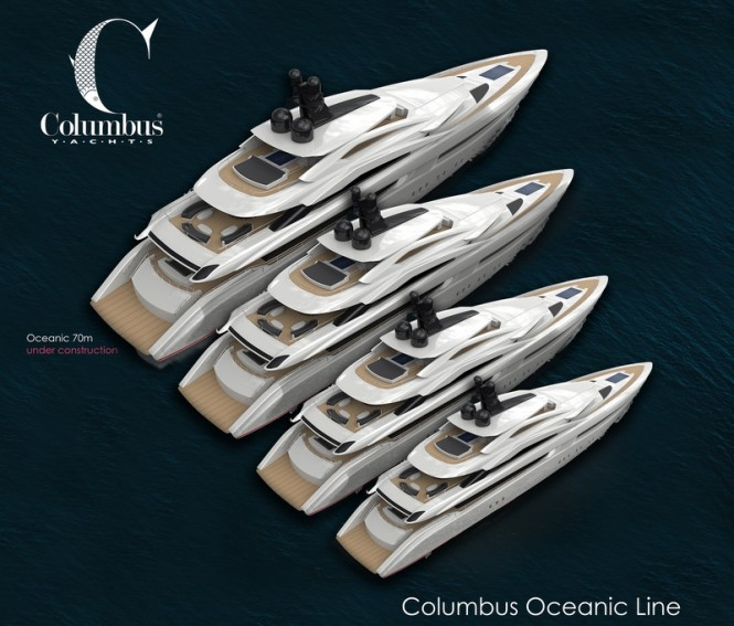 Full Columbus Oceanic Line of Luxury Motor Yachts