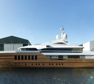Delivery of New HEESEN YN 17255 AZAMANTA Yacht – The world's first Fast Displacement steel-hulled Yacht over 50m