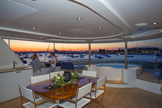 Newport Charter Yacht Show 2015 from aboard a Superyacht - Photo by Billy Black