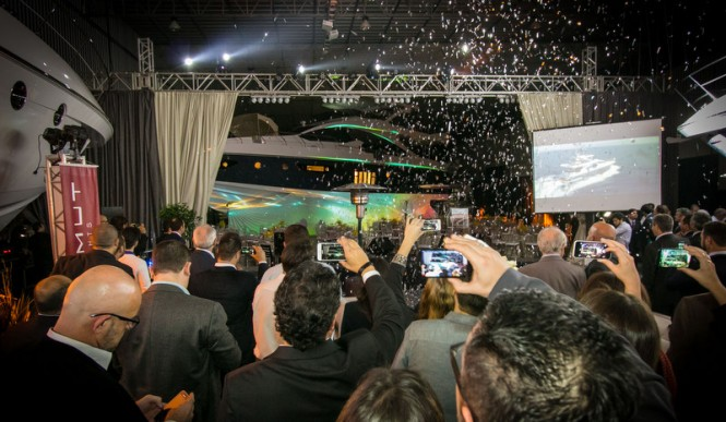 Absolute success during presentation of the largest yacht built in the Brazilian subsidiary of Azimut Yachts - the Azimut 83 Yacht - Photo by Acioni Cassaniga
