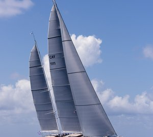 New 56m Royal Huisman Sailing Yacht AQUARIUS to feature Doyle Stratis sails