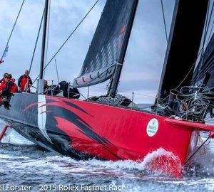 Monohull-Line Honours for 100ft Hodgdon Supermaxi Yacht COMANCHE at 2015 Rolex Fastnet Race