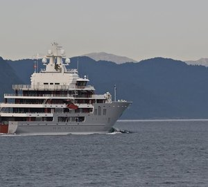 107M Explorer Yacht ULYSSES arrives in Germany for final outfitting