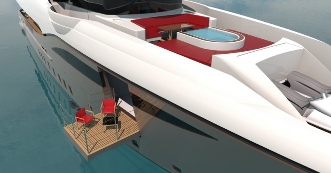 48m Bilgin motor yacht - Owners suite with its own superior balcony