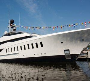 Bespoke 57m Motor Yacht HALO splashes at FEADSHIP