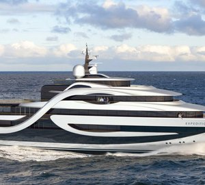 Impressive 75m Explorer Yacht EXPEDITION concept by Andy Waugh Yacht Design