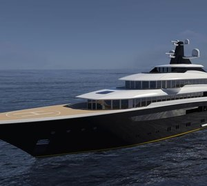 Dramatically beautiful 87m Mega Yacht ARAGONESE concept by Jorge Jabor