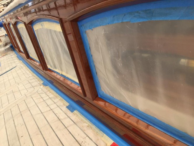 Aboard MARIE Yacht