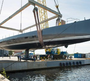 All-new silver-hulled Baltic 115 Custom Yacht launched