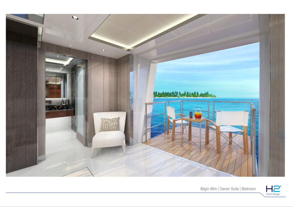 Bilgin 48m Owner Private Balcony