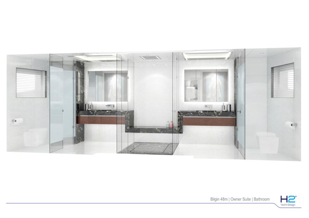 Bilgin 48m - Owner bathroom