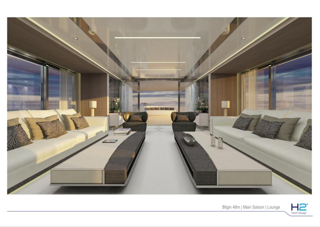 Bilgin 48m yacht - Saloon