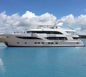 Delivery of New 140' Superyacht KING BABY by IAG custom built for Superyacht Charter