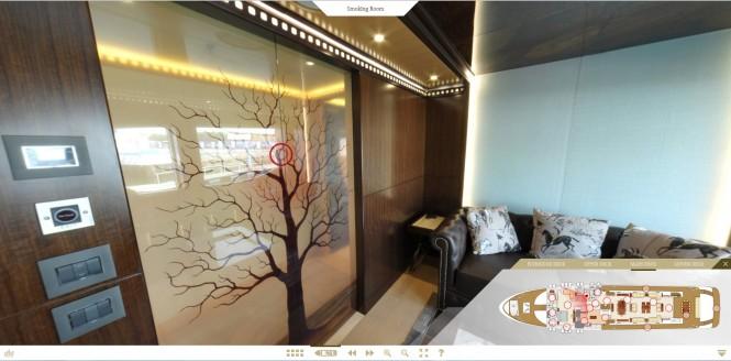Majesty 155 superyacht virtual tour - Cigar Lounge