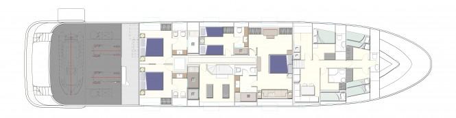 N35 Yacht Lower Deck General Arrangements