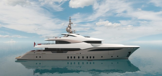 New 48m motor yacht by Unique Yacht Design under construction at Bilgin Yachts