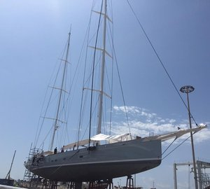Varnish work aboard Royal Huisman Sailing Yacht ELFJE by Absolute Boat Care