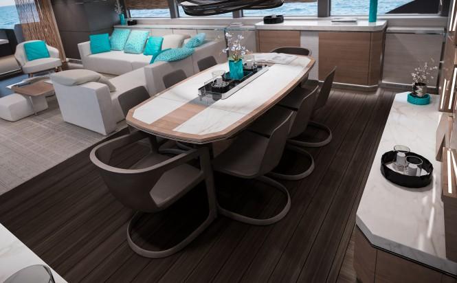 Superyacht Filippetti N35 Main Saloon