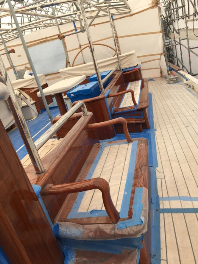 Works aboard the 55m Vitters superyacht MARIE