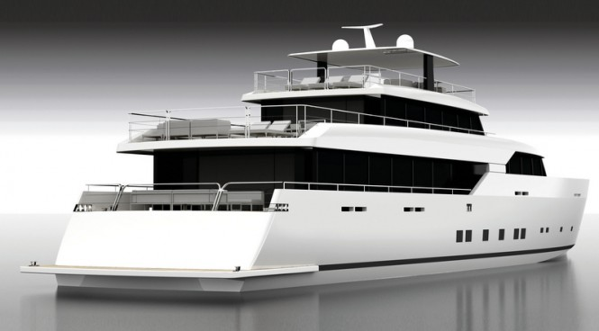 LOGICA 154 Yacht - aft view