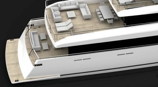 Luxury yacht LOGICA 154 - Decks