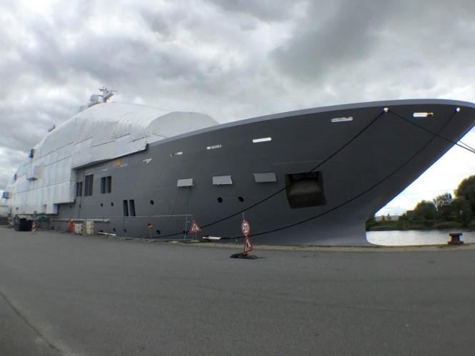 107M Explorer Mega Yacht ULYSSES in Bremenhaven, Germany - Photo by DrDuu