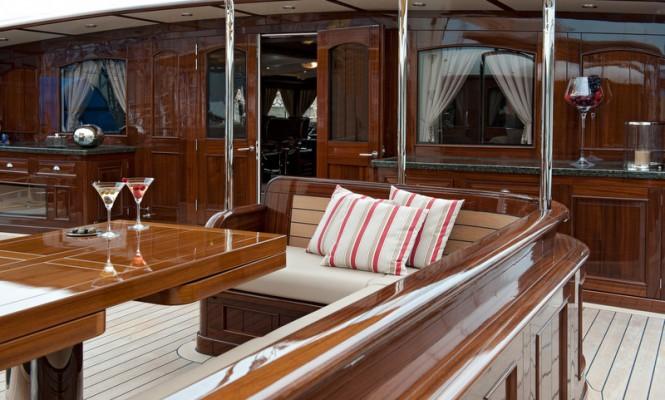 Aboard luxury yacht MIKHAIL S. VORONTSOV
