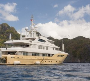 Indian Ocean Yacht Charter: 52m Motor Yacht JADE 959 Welcomes You On Board