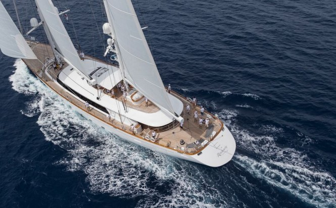 Luxury sailing yacht Rosehearty during the Perini Navi Cup 2015