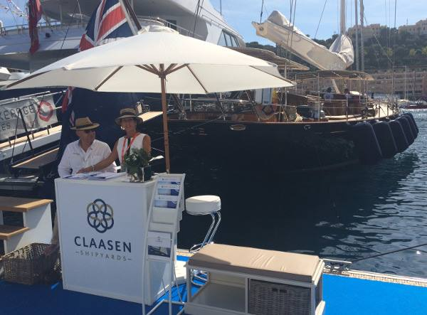 Luxury yacht ATALANTE on display at the 2015 Monaco Yacht Show