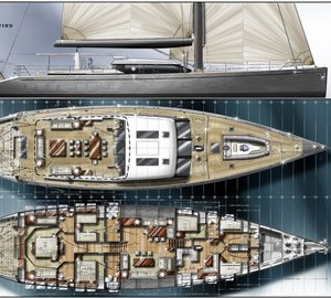 Luxury sailing yacht NORTH WIND 100 concept designed by Barracuda Yacht Design