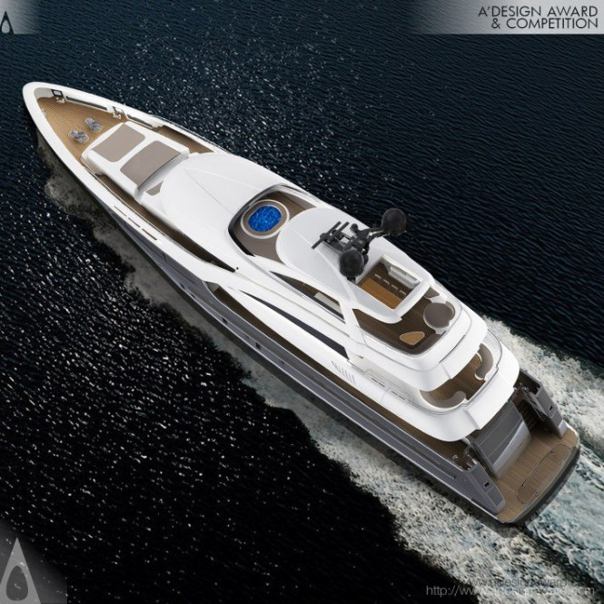 Motor yacht Sarp 46m from above