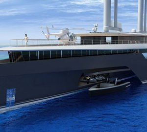 New 282' Trimaran Mega Yacht KOMOREBI concept unveiled by VPLP at MYS