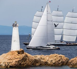 Well deserved victory for luxury charter yacht ROSEHEARTY on Day 1 of Perini Navi Cup 2015