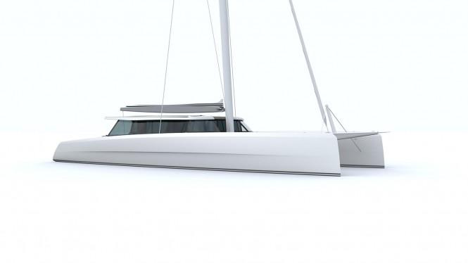Rendering of Super Catamaran Vantage 86 by Vantage Catamarans Ltd