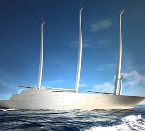 Mast Stepping of 142m Mega Sailing Yacht A Started