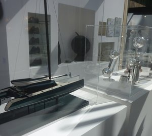 Scale model of Superyacht VANTAGE 86 showcased at REVELATIONS Show in Paris