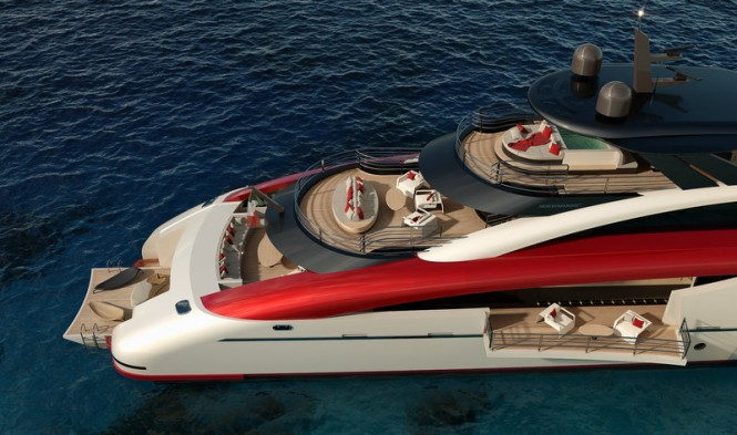 Superyacht SeaFalcon project - Decks