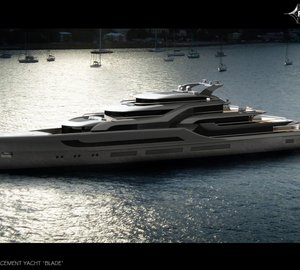 Breath-taking 100m Mega Yacht BLADE project designed with the future in mind by Ken Freivokh Design