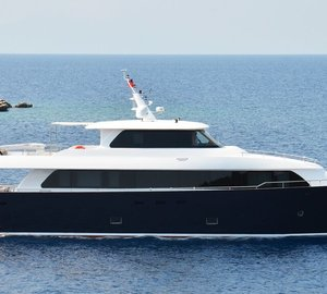 Newly launched 28m Motor Yacht NIMIR by Aegean Yacht on display at Istanbul Boatshow
