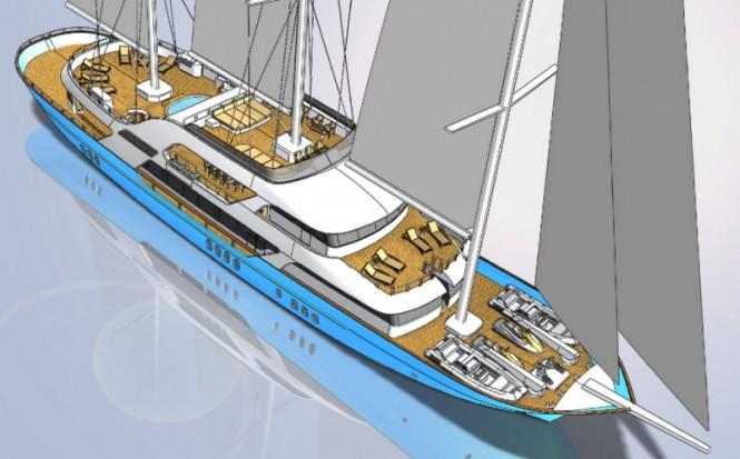 50m Motor Sailer Yacht Great Nautilus by Neta Marine