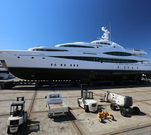 Beautiful 68m Motor Yacht LADY CHRISTINE at Monaco Marine La Ciotat