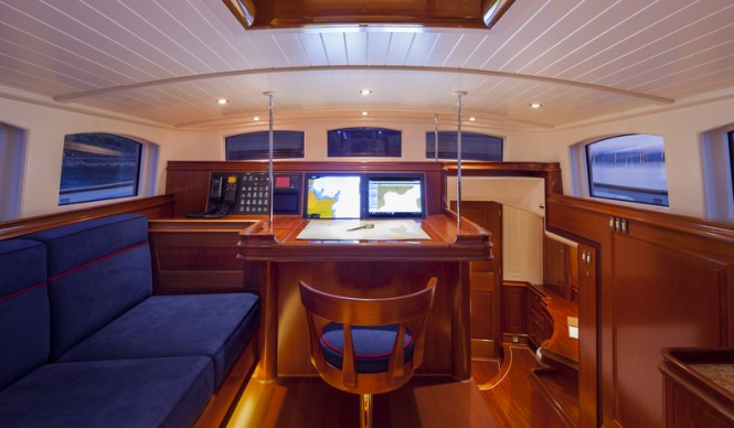 ATALANTE Yacht - Aft Deckhouse - Image courtesy of Claasen Shipyards