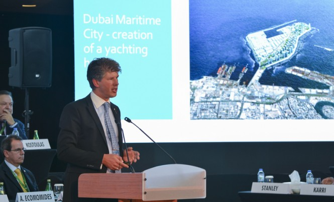 Gulf Craft CEO Erwin Bamps at the recent MARE Forum Monaco Yacht Summit in Monaco
