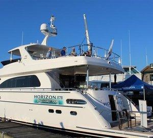 A great success of Horizon motor yacht E78 at Newport International Boat Show 2015