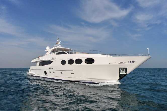 Luxury motor yacht Majesty 105 by Gulf Craft - The largest yacht to be displayed at QIBS 2015