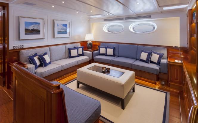 Luxury yacht ATALANTE - Saloon - Image courtesy of Claasen Shipyards