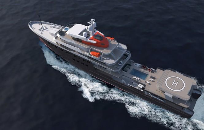 NAVIRE DE VOYAGE 95 Yacht Concept by PIRIOU©PIRIOU