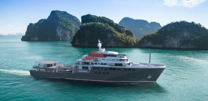 New 95m Multipurpose Explorer Yacht NAVIRE DE VOYAGE 95 Concept by PIRIOU©PIRIOU